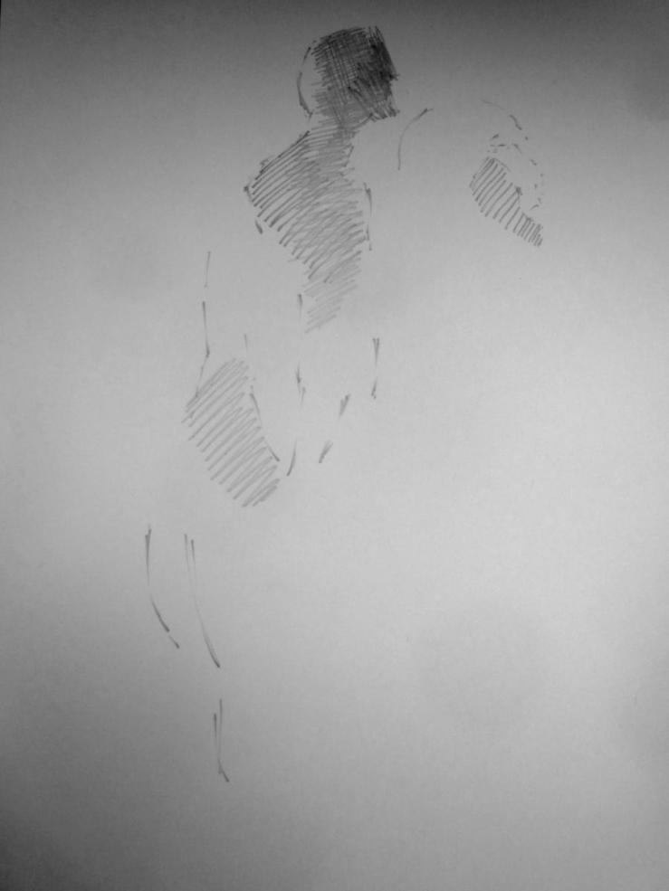 pencil in sketchbook, a3, 2012