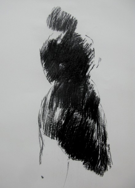 charcoal on paper, 297 × 420 mm, 2012.