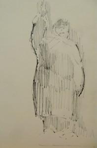 pencil in sketchbook, a5, 2013