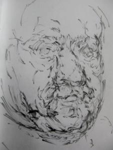 pencil in sketcbook, a5, 2012