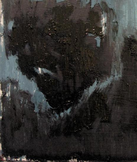 oil & gesso on reclaimed board, 330 x 300 mm, 2013