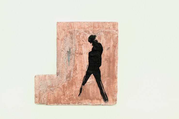 oil on reclaimed wood, 260 x 590 x 20 mm, 2013