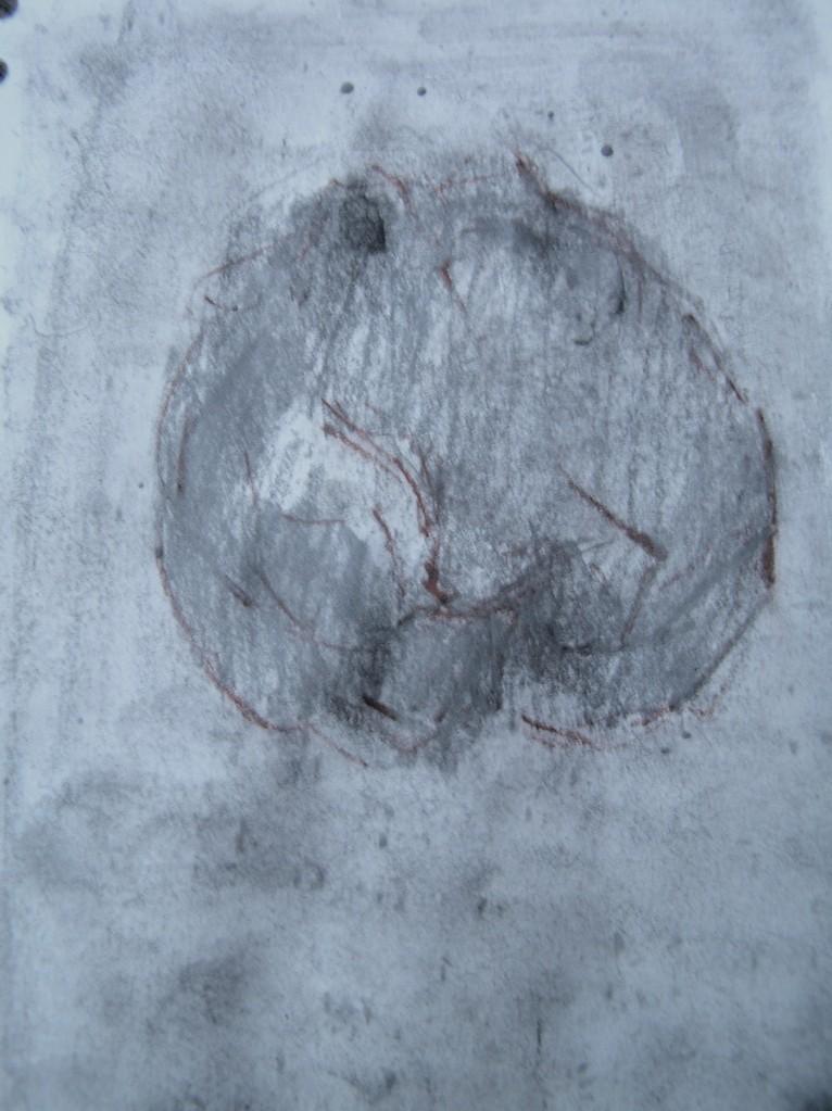 watercolour, pencil, graphite and sanguine in sketchbook, a5, 2013