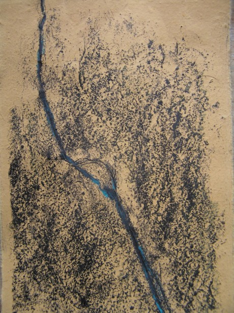 pencil and oil pastel on paper, 170 x 150 mm 2014