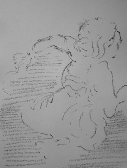 graphite in sketchbook, a5, 2014