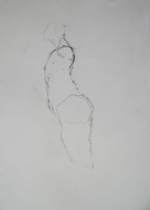 graphite in sketchbook, A4, 2015.