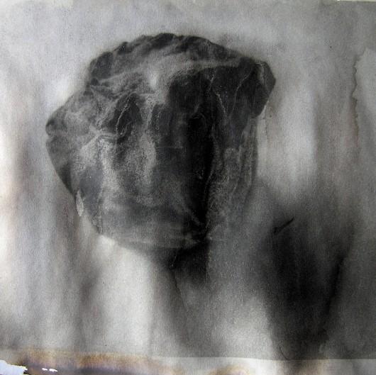 gesso, oil paste,l & graphite on digital print, 210 x 180 mm, 2015