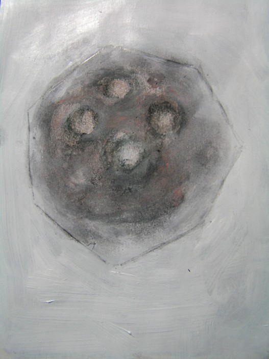 graphite, acrylic, and oil pastel, a5, 2015
